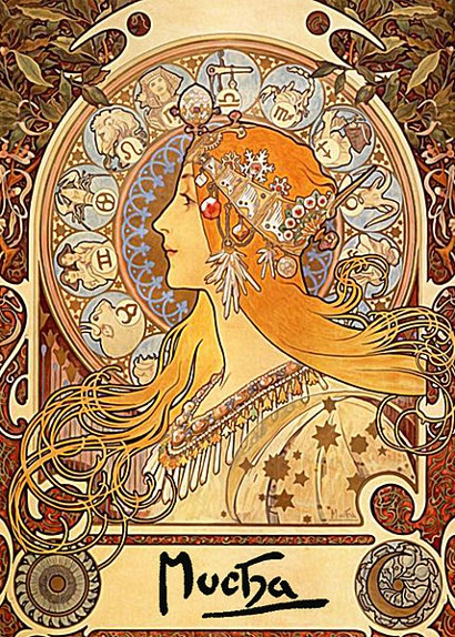 The unique style of Mucha's adverts distinguished him from other artists, and soon every company wanted him behind their products